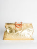Vintage 1980s Embossed Gold Metallic Weekender Bag - Amarcord Vintage Fashion  - 4