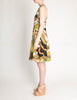 Madame Gres Vintage Floral Linen Sun Dress