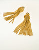 Grosse Vintage Gold Tassel Fringe Earrings - Amarcord Vintage Fashion  - 3