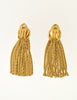 Grosse Vintage Gold Tassel Fringe Earrings - Amarcord Vintage Fashion  - 4