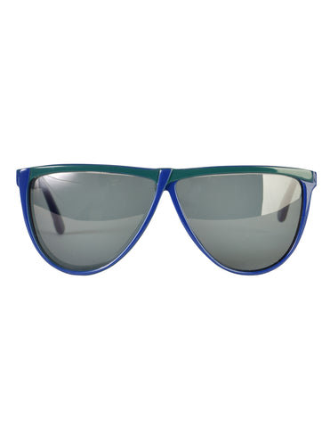 Gucci Vintage 1980s Green Blue GG62 Sunglasses