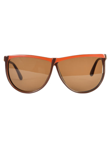 Gucci Vintage 1980s Brown Orange GG62 Sunglasses