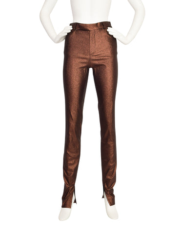 Gucci Vintage 1997 Tom Ford Era Copper Metallic Lurex Pants