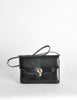 Gucci Vintage 1970s Black Lizard Skin Clutch Bag - Amarcord Vintage Fashion  - 2