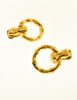 Gucci Vintage Gold Bamboo Door Knocker Hoop Earrings