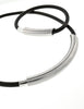 Gucci VIntage Black Rubber Magnetic Bracelet and Choker Necklace Set - Amarcord Vintage Fashion  - 5