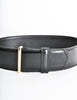 Gucci Vintage Wide Black Leather Belt - Amarcord Vintage Fashion  - 2