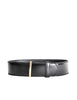 Gucci Vintage Wide Black Leather Belt - Amarcord Vintage Fashion  - 1