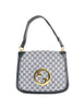 Gucci Vintage Blondie Navy Blue Monogram Logo Medallion Handbag - Amarcord Vintage Fashion  - 1