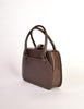 Gucci Vintage 1960s Brown Leather Structured Turn Lock Handbag - Amarcord Vintage Fashion  - 2