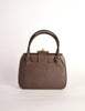 Gucci Vintage 1960s Brown Leather Structured Turn Lock Handbag - Amarcord Vintage Fashion  - 3