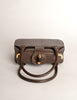 Gucci Vintage 1960s Brown Leather Structured Turn Lock Handbag - Amarcord Vintage Fashion  - 6