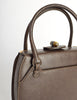 Gucci Vintage 1960s Brown Leather Structured Turn Lock Handbag - Amarcord Vintage Fashion  - 7