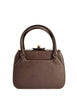 Gucci Vintage 1960s Brown Leather Structured Turn Lock Handbag - Amarcord Vintage Fashion  - 1