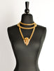 Gucci Vintage Gold Crest Chain Necklace Belt - Amarcord Vintage Fashion  - 7