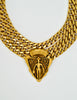 Gucci Vintage Gold Crest Chain Necklace Belt - Amarcord Vintage Fashion  - 2