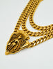 Gucci Vintage Gold Crest Chain Necklace Belt - Amarcord Vintage Fashion  - 4