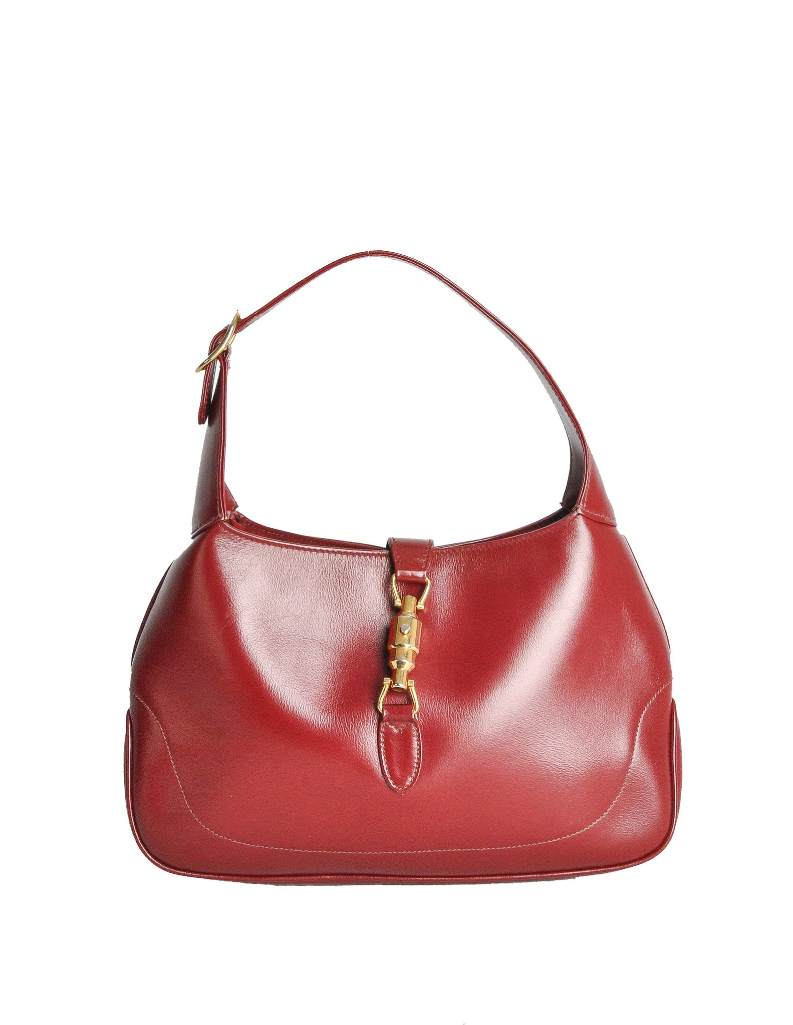 6b18bc6746dd5e Very Gucci Vintage 1960s Maroon Jackie O Handbag - from Amarcord UM86