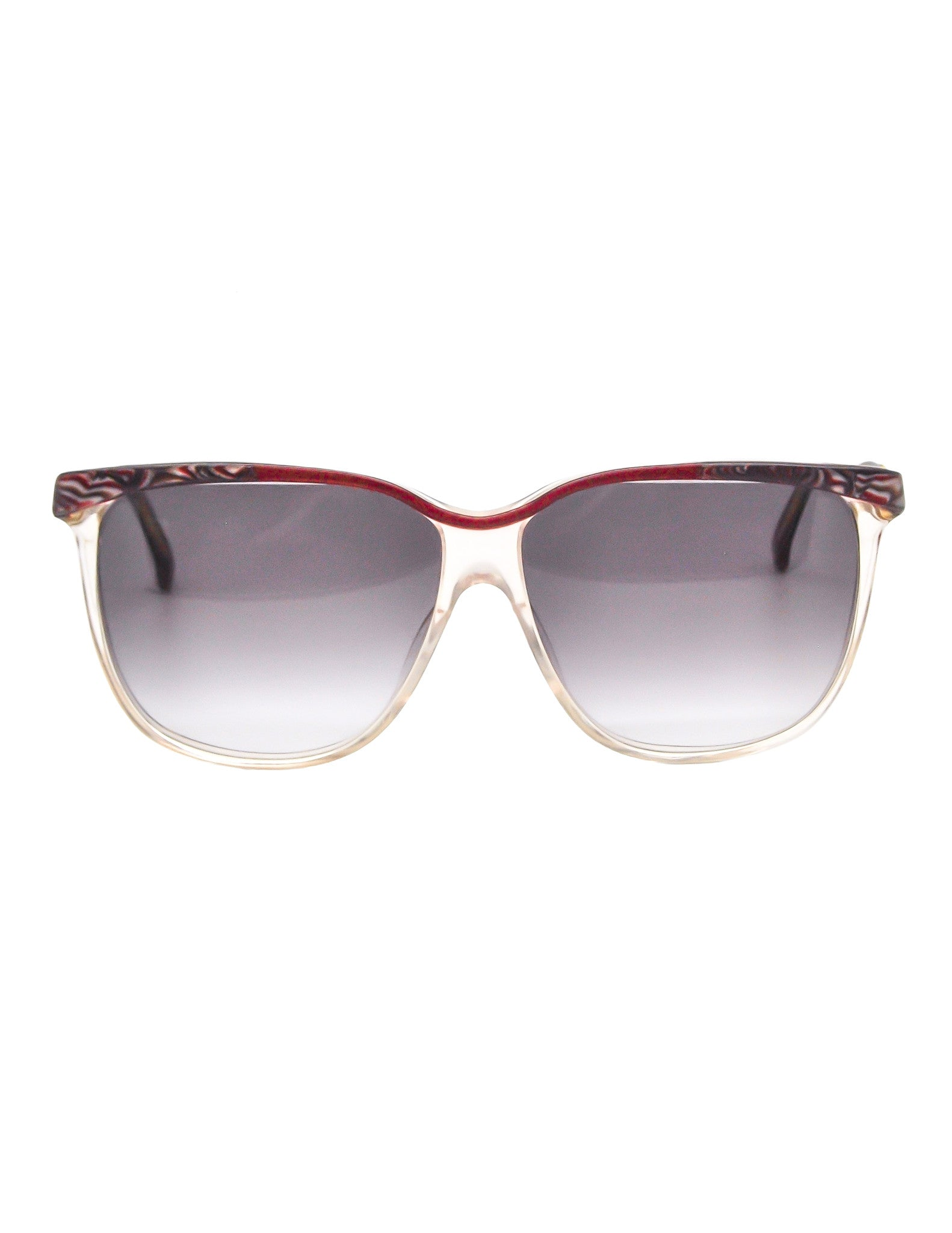 Gucci Vintage Maroon Marble and Clear Sunglasses - Amarcord Vintage Fashion  - 1