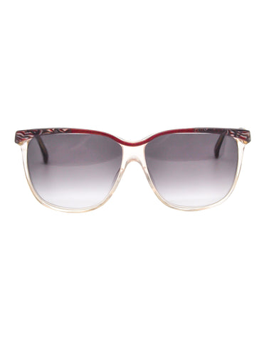Gucci Vintage Maroon Marble and Clear Sunglasses