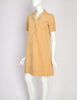 Halston Vintage Beige Ultrasuede Collared Shirt Dress