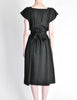 Halston Vintage Black Linen Button Up Dress - Amarcord Vintage Fashion  - 6
