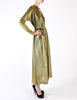 Halston Vintage Metallic Gold Maxi Dress - Amarcord Vintage Fashion  - 4