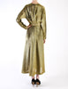 Halston Vintage Metallic Gold Maxi Dress - Amarcord Vintage Fashion  - 6