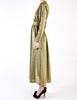 Halston Vintage Metallic Gold Maxi Dress - Amarcord Vintage Fashion  - 5