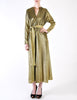 Halston Vintage Metallic Gold Maxi Dress - Amarcord Vintage Fashion  - 2