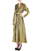 Halston Vintage Metallic Gold Maxi Dress - Amarcord Vintage Fashion  - 1