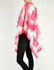 Vintage 1970s Pink & White Silk Butterfly Print Poncho - Amarcord Vintage Fashion  - 6