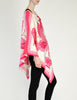 Vintage 1970s Pink & White Silk Butterfly Print Poncho - Amarcord Vintage Fashion  - 4