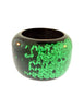 Henri Bendel New York Heavy Emerald Green Sequin Resin Chunky Wide Bracelet