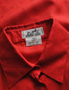 Hermès Vintage Red Silk Bee Jacquard Secretary Blouse Shirt - Amarcord Vintage Fashion  - 8