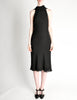 Hermès Vintage Black Silk Crepe Layered Bias Dress - Amarcord Vintage Fashion  - 2