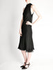 Hermès Vintage Black Silk Crepe Layered Bias Dress - Amarcord Vintage Fashion  - 4