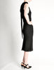 Hermès Vintage Black Silk Crepe Layered Bias Dress - Amarcord Vintage Fashion  - 5
