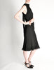 Hermès Vintage Black Silk Crepe Layered Bias Dress - Amarcord Vintage Fashion  - 6