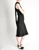 Hermès Vintage Black Silk Crepe Layered Bias Dress - Amarcord Vintage Fashion  - 7