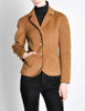 Hermès Vintage Caramel Brown Cashmere Riding Jacket - Amarcord Vintage Fashion  - 2