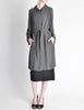 Hermès Vintage Grey Silk Chiffon Sheer Coat - Amarcord Vintage Fashion  - 2