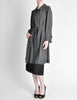 Hermès Vintage Grey Silk Chiffon Sheer Coat - Amarcord Vintage Fashion  - 4