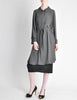 Hermès Vintage Grey Silk Chiffon Sheer Coat - Amarcord Vintage Fashion  - 5