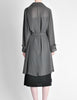 Hermès Vintage Grey Silk Chiffon Sheer Coat - Amarcord Vintage Fashion  - 7