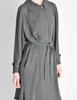 Hermès Vintage Grey Silk Chiffon Sheer Coat - Amarcord Vintage Fashion  - 3