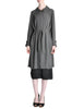 Hermès Vintage Grey Silk Chiffon Sheer Coat - Amarcord Vintage Fashion  - 1