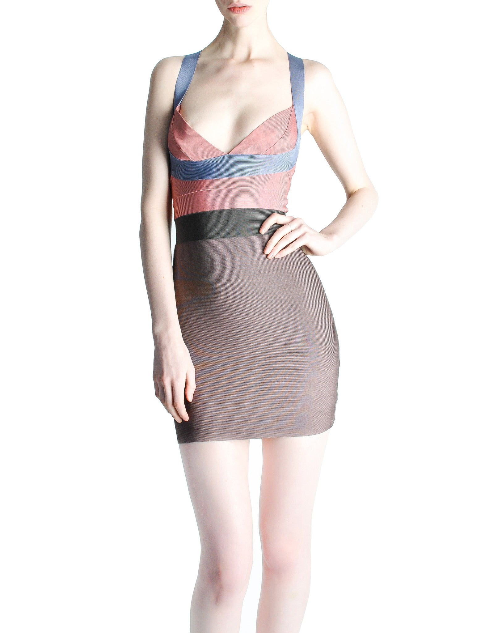 Herve Leger Bandage Body Con Dress - Amarcord Vintage Fashion  - 1