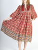 Phool Vintage Indian Silk Block Print Tent Dress - Amarcord Vintage Fashion  - 3