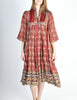 Phool Vintage Indian Silk Block Print Tent Dress - Amarcord Vintage Fashion  - 2